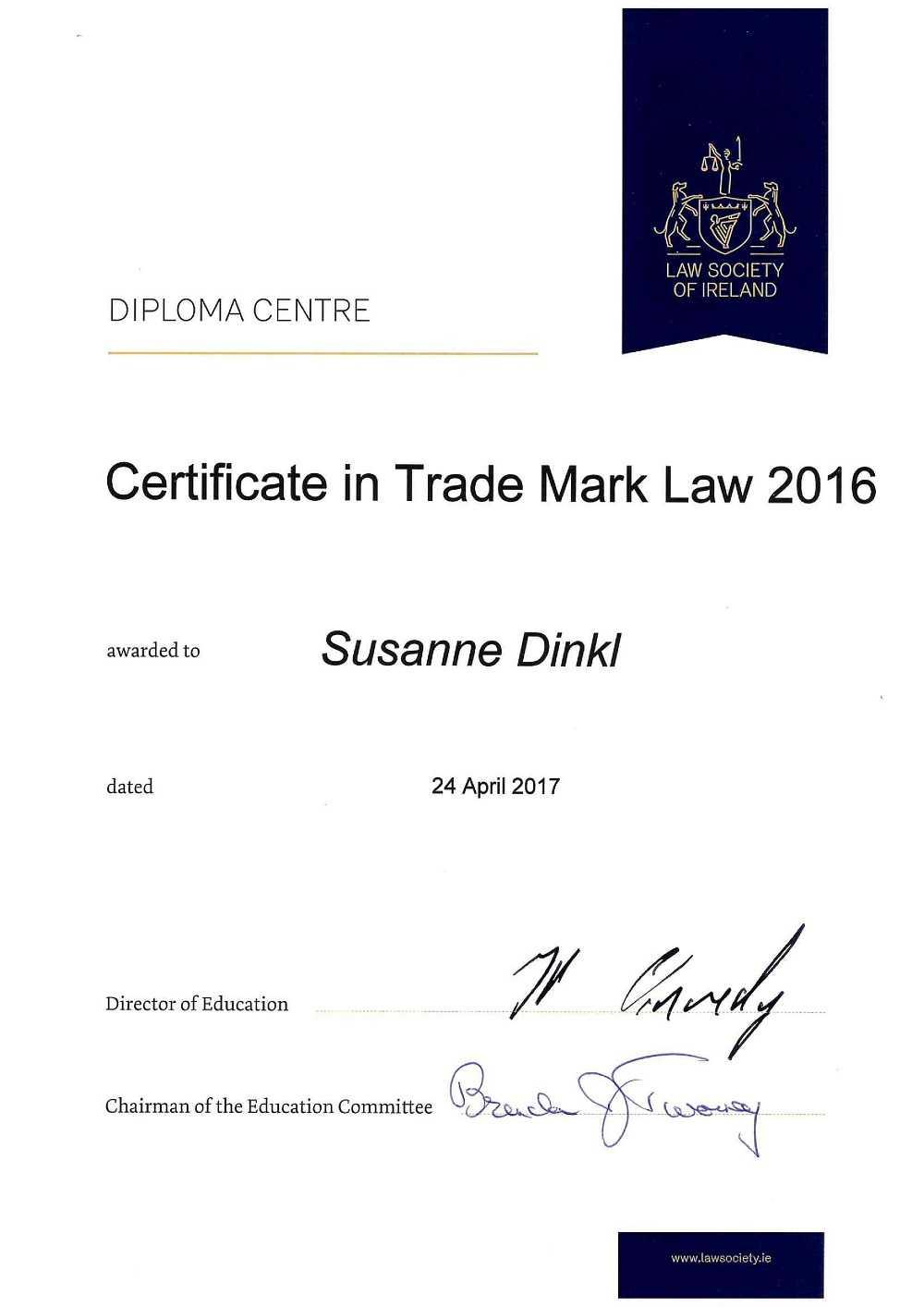 Susanne-Dinkl-Diploma